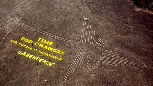 Greenpeace activists in hot water over Nasca Lines act