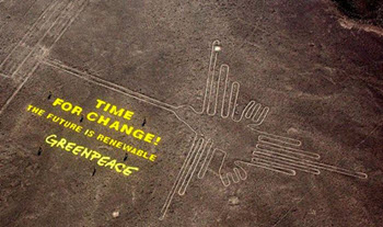 Greenpeace crosses the line and leaves footprint of controversy at Nasca heritage site