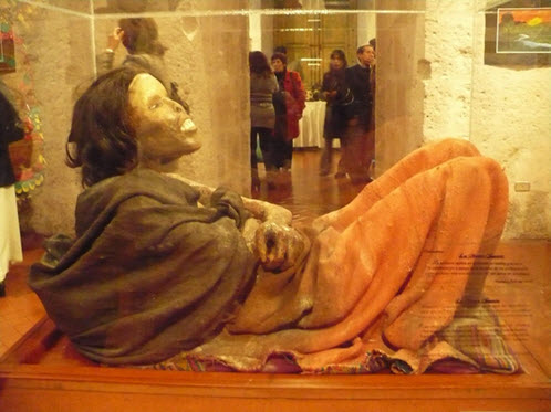 The famous Ice Maiden mummy will be absent from the standard city tour of Arequipa through April 2015 while she undergoes her annual deep freeze treatment to ensure her preservation.