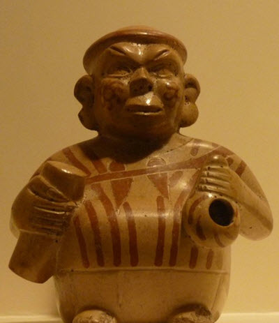 Moche portrait vessel : See it with Fertur Peru Travel at the Larco Museum