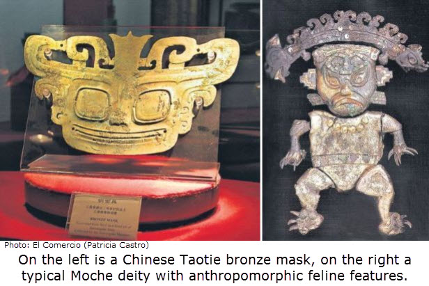Taotie vs Moche Decapitor - family resemblance