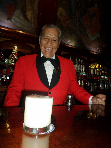 Eloy Cuadros serves up the perfect double pisco sour for Pisco Sour Day