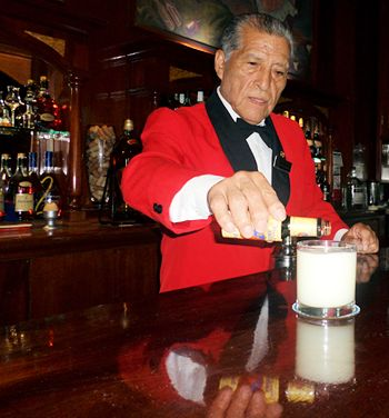 During a tour of Lima's historic city center, treat yourself to a perfect pisco sour mixed by one of Peru's master mixologists, Eloy Cuadros.