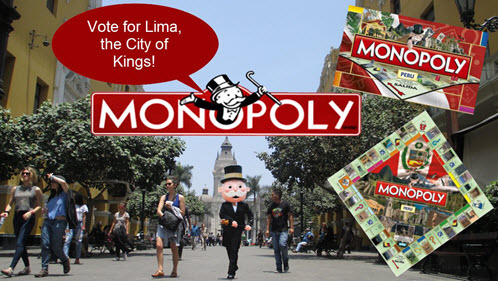 Mr. Monopoly takes a walking our of Lima, the City of Kings