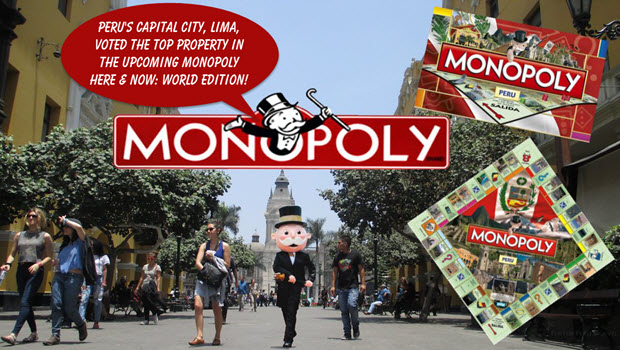 Peru's capital city, Lima, voted the top property in the upcoming MONOPOLY HERE & NOW: World Edition!