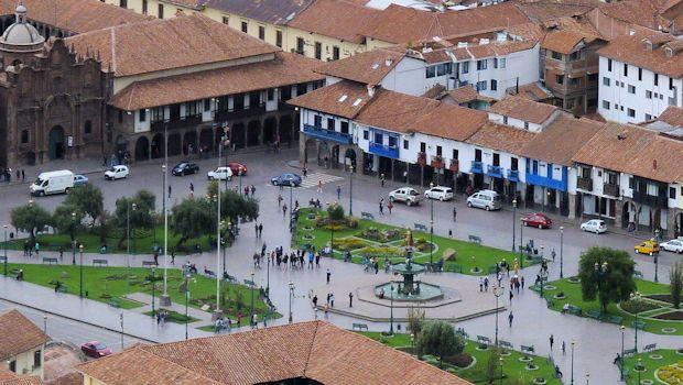 Pilot project: Cusco's main plaza a vehicle-free pedestrian zone