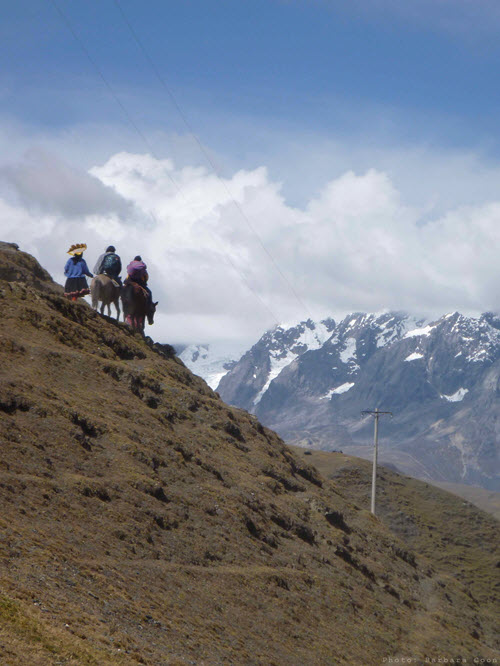 Approaching base camp on horseback to take part in the Qoyllur Rit'i festival.