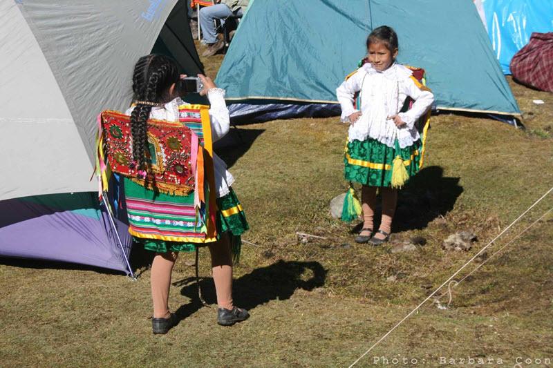 Taking photos at the Qoyllur Riti festival