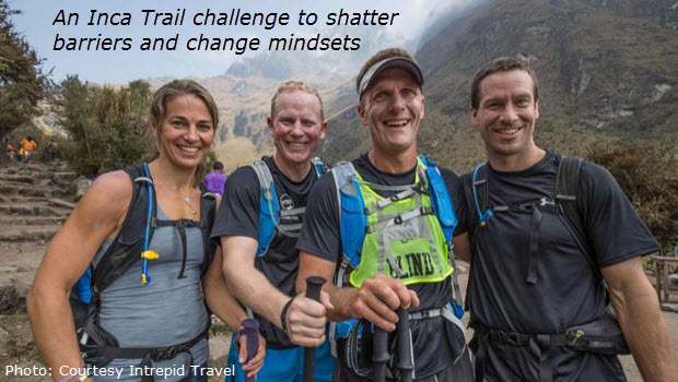 Inca Trail challenge redefined by blind athlete