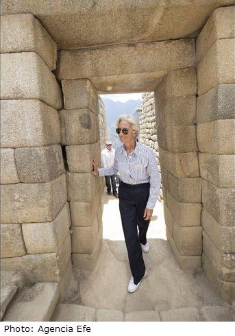 """Machu Picchu offers """"a lesson of spirituality, of resilience, of beauty,"""" says IMF chief Christine Lagarde"""