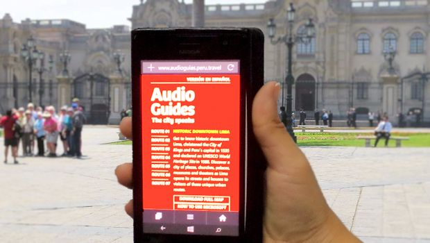 Download free audio tours of the Historic Center of Lima