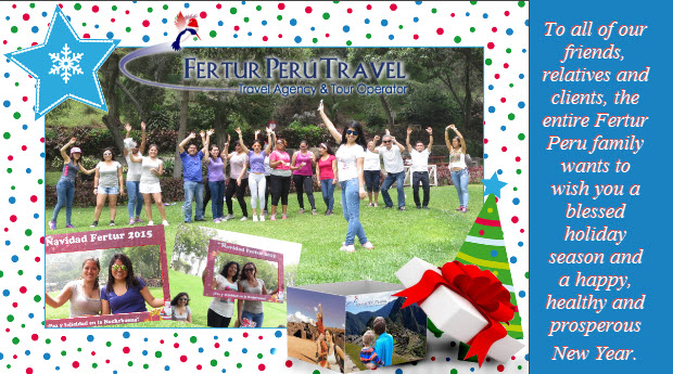 Fertur Peru Travel Wishes You Happy Holidays!