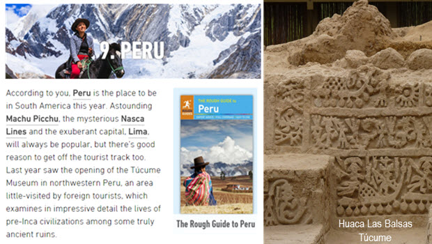 Rough Guides readers list Peru as Top 10 Destination