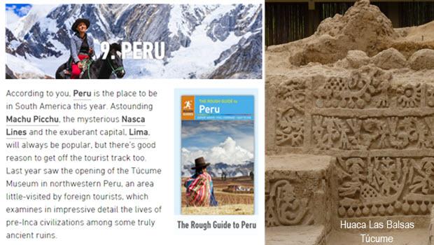Rough Guides readers list Peru as Top 10 Destination