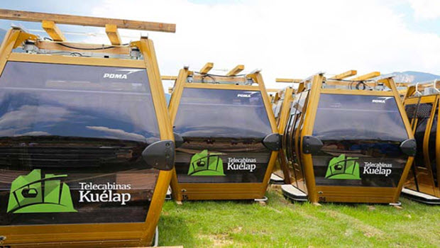 Cable cars arrive for breathtaking transport on tours of Kuelap