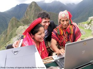 Machu Picchu connected to the World Wide Web