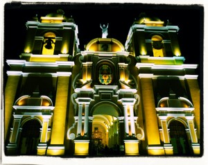 Visit the Trujillo Santo- Domingo Cathedral at nightl