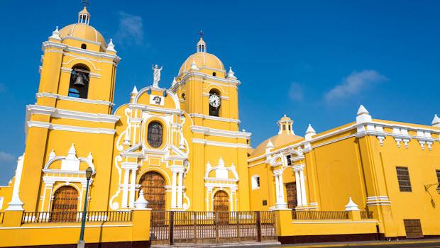Historic center of Trujillo Peru – Night and Day