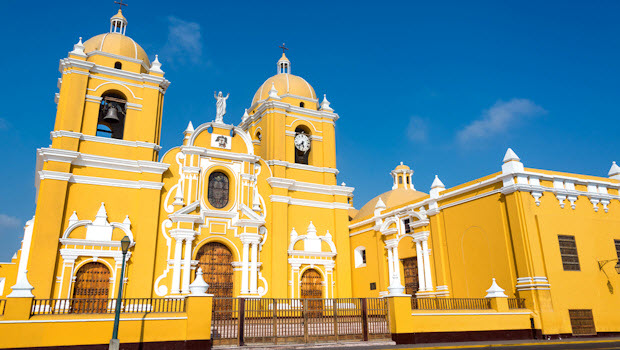 Historic center of Trujillo Peru – Night and Day