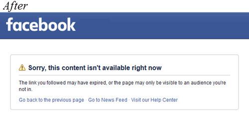FB post taken down