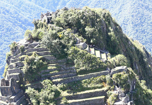 Huayna Picchu aerial shot taken from Peru president's helicopter-1