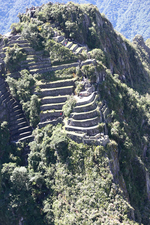 Huayna Picchu aerial shot taken from Peru president's helicopter-2