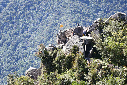 Huayna Picchu aerial shot taken from Peru president's helicopter-3