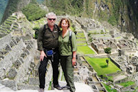 Joe and Margaret at Machu Picchu