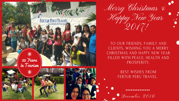 Happy Holidays from Fertur Peru Travel!