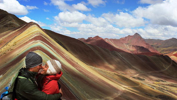 Prepare for some high altitude to feast your eyes on Rainbow  Mountain