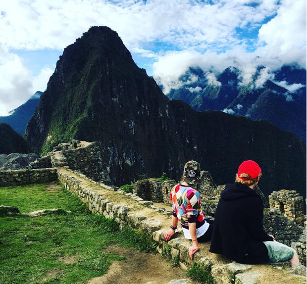 British singer Ed Sheeran shares an idyllic moment at Machu Picchu with his sweetheart, Cherry Seaborn.