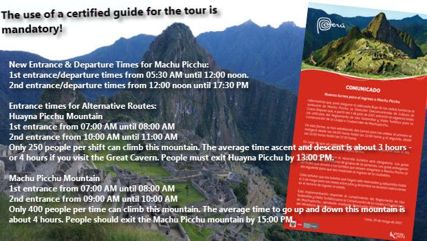 New Machu Picchu Entrance Times and Mandatory Guides as of July, Oh My!