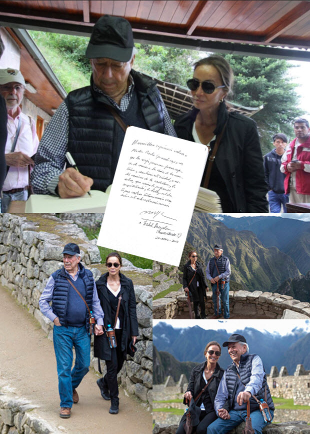 Mario Vargas Llosa and Isabel Preysler, who reportedly have made the decision to marry in 2017, took an extensive guided tour of Machu Picchu in April.