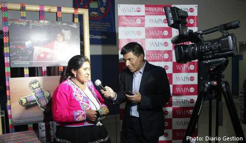 Doris Barrientos, a master artisan from Cusco.