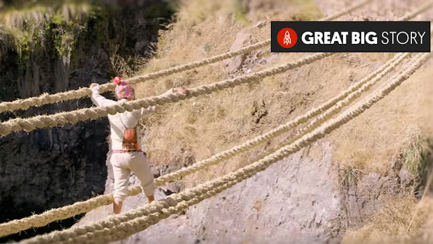 Peru's last Inca Rope Bridge Gets CNN's Attention