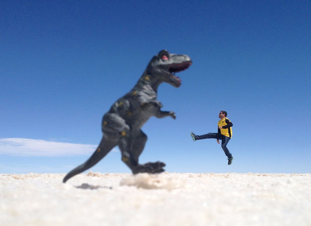 Bring some toys for funny salt flat pictures
