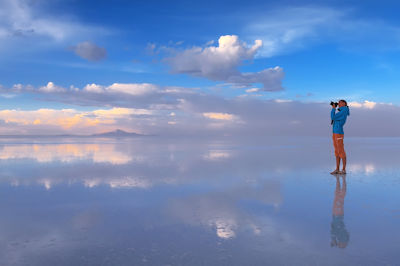 A pair of flip-flops is a good item to bring for your tour to Salar de Uyuni during the rainy season