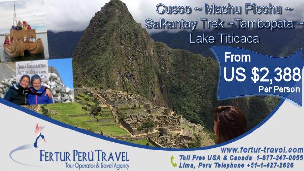 Machu Picchu and Salkantay Trek plus Amazon Jungle and Lake Titicaca 2018