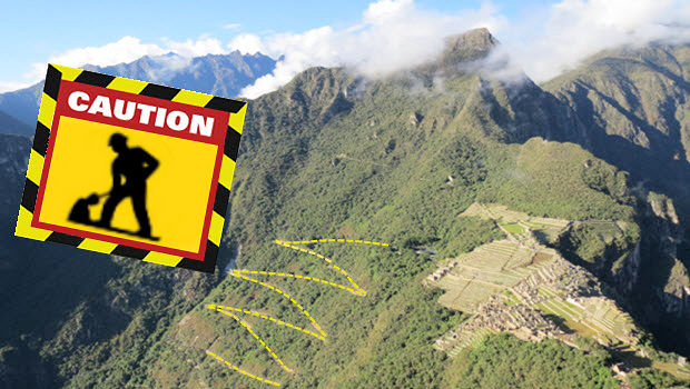 Hiram Bingham Highway to Machu Picchu Under Maintenance