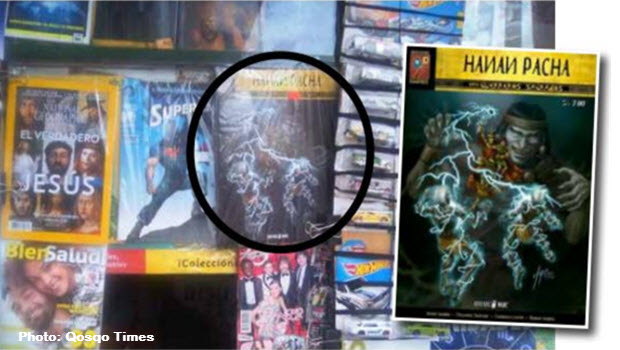 Sacred Warriors Comics on Sale at Cusco News Stands Now