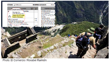 A new trek route through the Inkaraqay ruins on the far side of Huayna Picchu