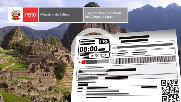 New ticket format and entry times for Machu Picchu starting 2019