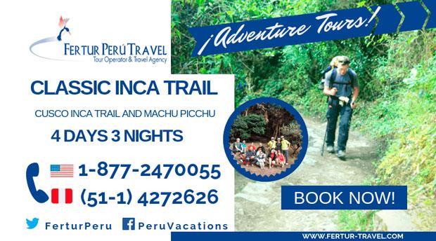Classic Inca Trail 4-Days 3 Nights