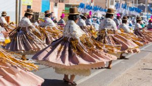 People dancing in the streets for Candelaria Festival - Puno Peru - Photo by @adobestock
