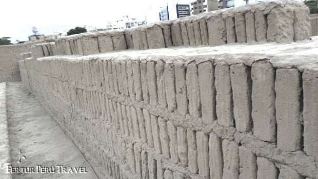 Ancient adobe-brick Huaca Pucllana