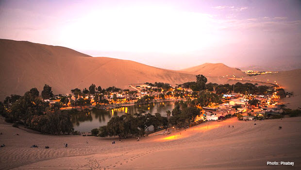 Desert Oasis of Huacachina by Pixabay