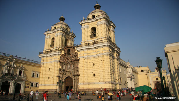 San Francisco Church in Lima - Photo by © C.J. Schexnayder