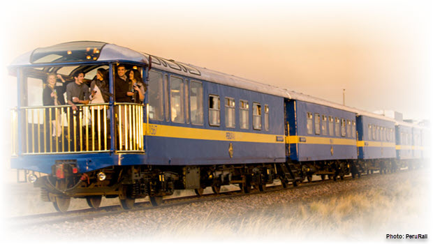 Luxury train to Machu Picchu - Image courtesy of PeruRail