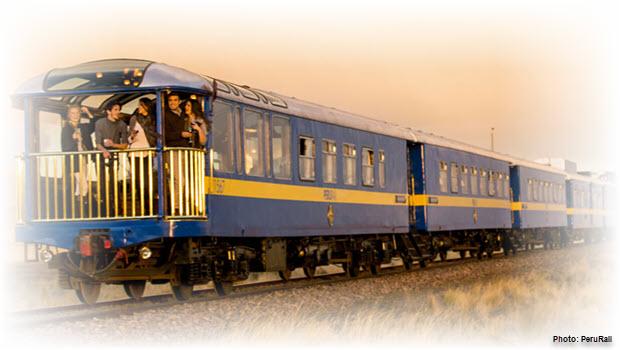 Luxury train to Machu Picchu - Image courtesy of PeruRail