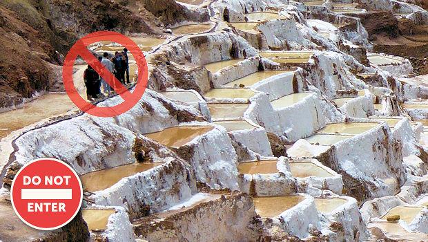 Maras salt pans tourist entry prohibited